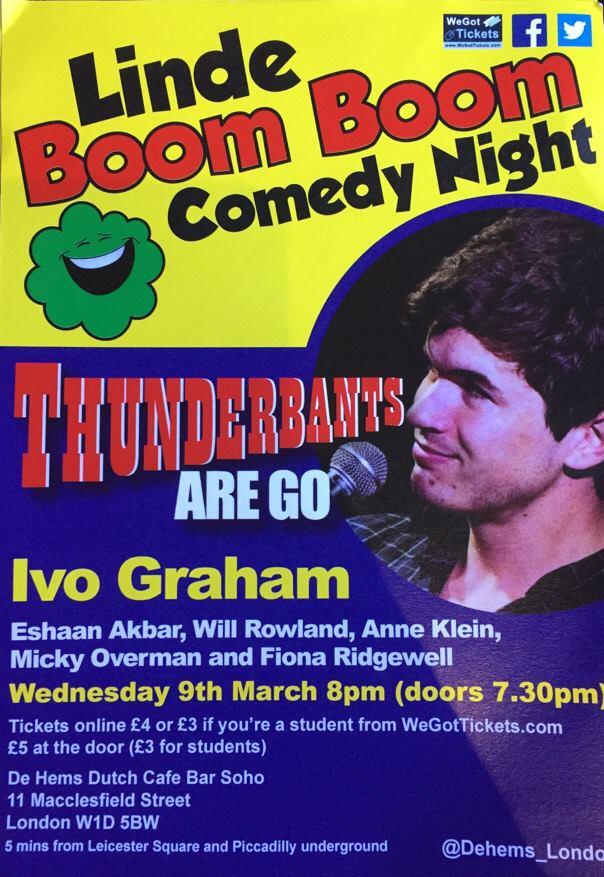 Boom Boom Comedy night