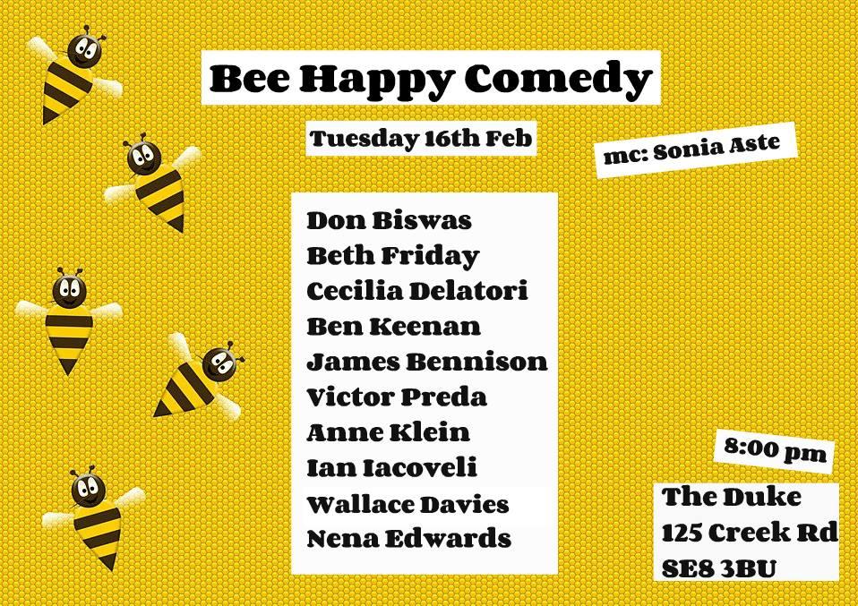 bee happy comedy